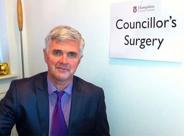 David Harrison at his councillors surgery
