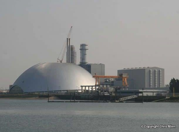 Marchwood incinerator and power station.