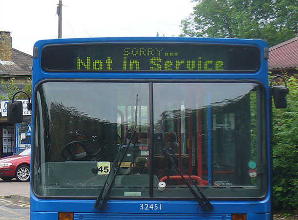 Buses - Not in service