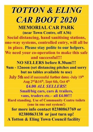 Boot Sale In Totton...