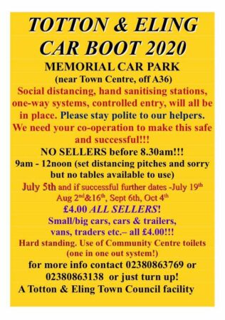 Totton Boot Sale...