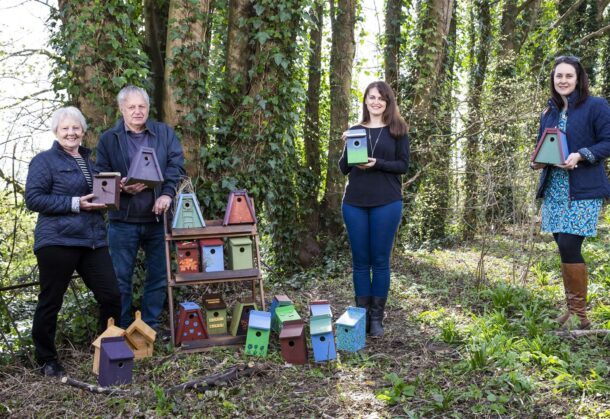 Millionaires Help Build Bird Boxes For Wildlife Group